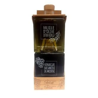 Set 2 cubes huile olive & vinaigre balsamique 2x250ml