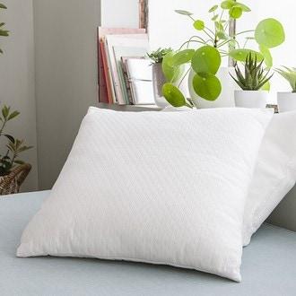 Coussin surpiqûre losange blanc candice 44x44cm