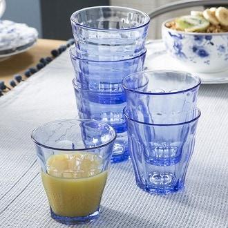 Duralex - 4 gobelet prisme marine verre trempé bleu 27,5cl