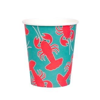 8 gobelets homard
