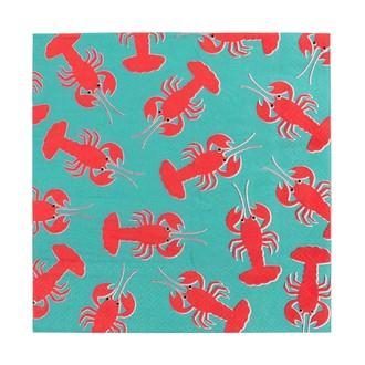 20 serviettes homard