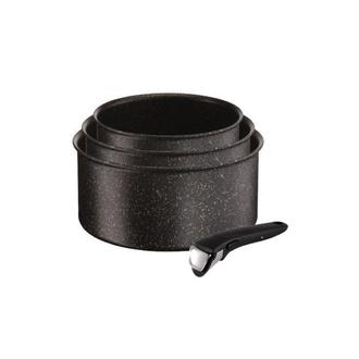 TEFAL - Lot de 3 casseroles Ingenio Authentic 16/18/20 cm effet pierre