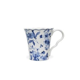 Mug fleurs bleues 33cl