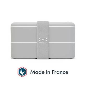 MON BENTO - Boîte 2 compartiments gris 1L