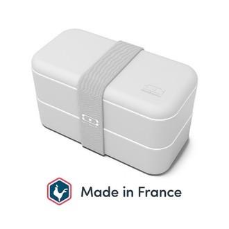 MONBENTO - Boîte 2 compartiments gris 1L