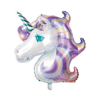 Ballon mylar licorne pastel