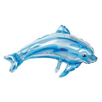 Ballon mylar dauphin bleu