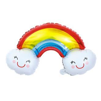 Ballon mylar arc en ciel kawai