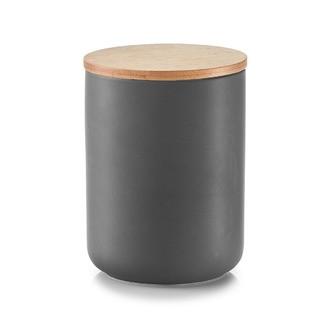 Bocal en céramique avec couvercle en bambou anthracite 1,15L