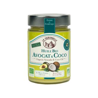 LA TOURANGELLE - Huile d'avocat et noix de coco bio 314ml