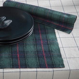 Chemin de table ecossais bleu