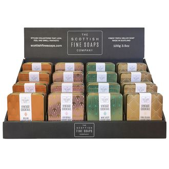THE SCOTTISH FINE SOAPS - Savon en boîte métal Vintage Cocktails 00g