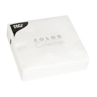 50 serviettes 33x33 cm blanc 3 plis