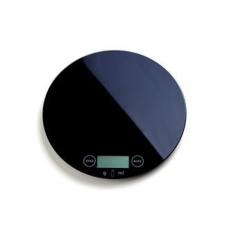 Balance électronique ronde noire