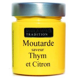SAVOR - Moutarde saveur thym et citron 130g