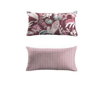 Coussin rectangulaire en percale de coton motif Pesiane 30x60cm