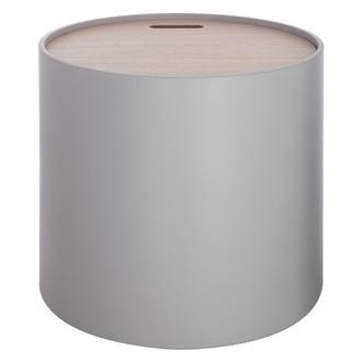 Table coffre plateau bois Yuri grise d45xh40cm