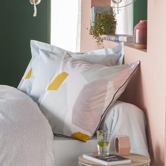 Zodio - taie d'oreiller carrée avec passepoil en coton imprimée paper cuts austin 63x63cm