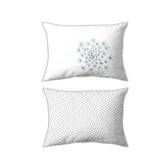 MAOM - Taie d'oreiller resctangle en percale imprimée Ombelle Nature 50x70cm