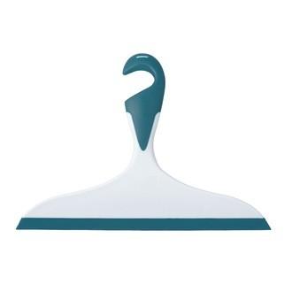 Raclette de douche à suspendre en plastique bleu miami Play 23x17cm