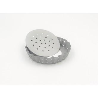 MAOM - Moule à tarte perforé fond amovible 10 cm
