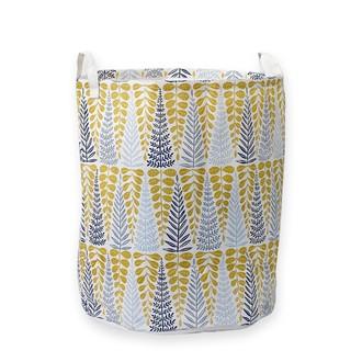 Panier à linge sale branches jaunes en coton 50x40 cm