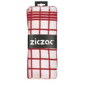 TISECO - 2 torchons pro à carreaux rouge et blanc 55x75cm