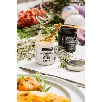 SAVOR - Moutarde truffe blanche pot blanc 130 g