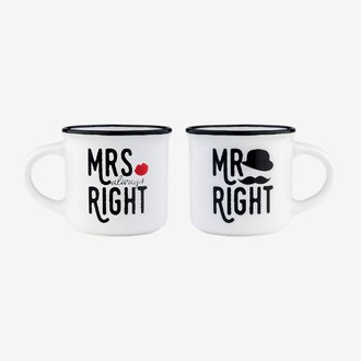 Coffret 2 tasses à expresso - MRS right MR right