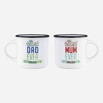 Coffret 2 tasses à expresso - Best mum Best dad