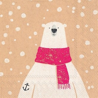 20 serviettes 25x25 cm captain polar bear mix