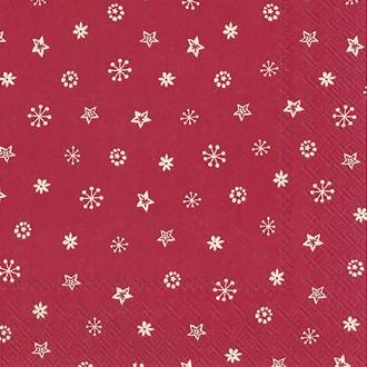 20 serviettes 33x33 cm little joy cream red