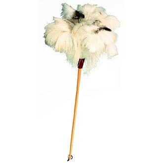 REDECKER - Plumeau en plumes d'autruches blanches 80cm