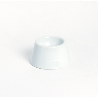 Coquetier conique en porcelaine blanc 6,5x3,5cm