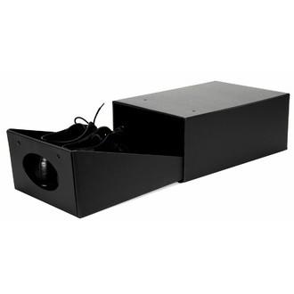 BIGSO BOX - Boite à chaussures ouverture frontale à tiroir carton graphite 34x24x14 cm