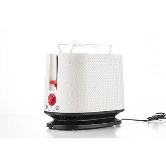 BODUM - Grille pain électrique 2 fentes, V3, blanc mat, Bistro