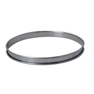 DE BUYER - cercle à tarte inox perforé bord roulé Ø24cm