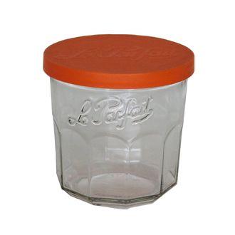 Le parfait - 6 pots à confiture 324ml avec couvercle orange + paraffine