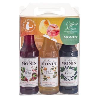 MONIN - Coffret de sirops: cassis, fraise des bois, passion 3x25cl