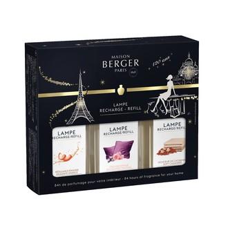 LAMPE BERGER - Triopacks festifs 3x180 ml (petillance exq, velours extase, voile de cachemire)