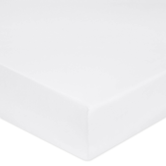 MAOM - Drap housse en percale blanche pour matelas grande épaisseur 140x200cm