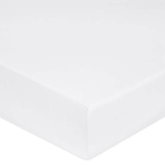 MAOM - Drap housse en percale blanche pour matelas grande épaisseur 160x200cm