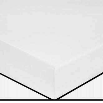 MAOM - Drap housse en percale blanche pour matelas grande épaisseur 180x200cm