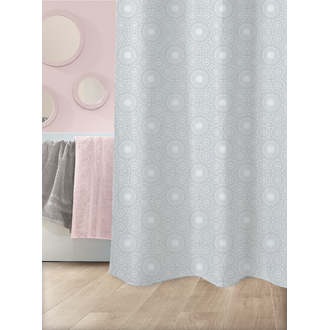 Rideau de douche 100% polyester Eolia 180x200cm
