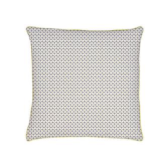 ZODIO - Taie d'oreiller carrée avec passepoil en coton imprimée Clea cendre 63x63cm