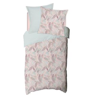 MAOM - Housse de couette en percale imprimée Lanay Pink 140x200cm