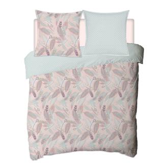 MAOM - Housse de couette en percale imprimée Lanay Pink 200x200cm