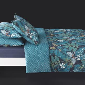 MAOM - Taie d'oreiller carrée en percale imprimée Clelie Papillons 65x65cm