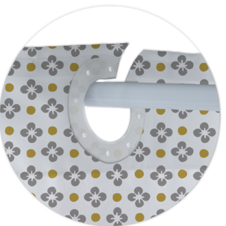 Zodio - rideau de douche 100% polyester clea 180x200cm