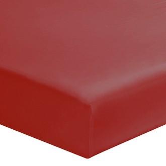 Zodio - drap housse en coton cranberry 90x190cm